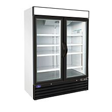 "Valpro VP2F-48FDV 54"" Merchandising Freezer, 2 Glass Doors 