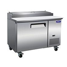 "Valpro VPP44 47.5"" Pizza Prep Table Refrigerator, 1 Sold Door | 12 Cu Ft"