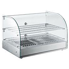 "Marchia HCA45 22"" Curved Glass Countertop Hot Food Display Warmer"