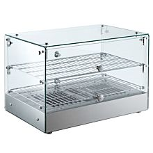 "Marchia HSA50 22"" Straight Glass Countertop Hot Food Display Warmer"