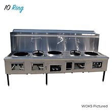 WOK10 Commercial 10 Ring Chinese Wok Range, Gas