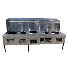 WOK5 Commercial 5 Ring Chinese Wok Range, Gas