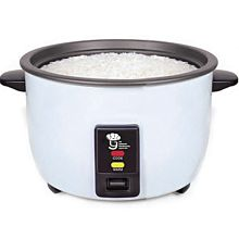 "Global WRC-1050W 16"" 50 Cup Cooked (25 Cup Uncooked) 120v Electric Rice Cooker/Warmer"