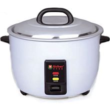 "Global WRC-1060W 16"" 60 Cup Cooked (30 Cup Uncooked) 120v Electric Rice Cooker/Warmer"