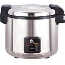 "Global WRC-1070S 17"" 66 Cups Cooked (33 Cup Uncooked) 120v Double Heating Electric Rice Cooker/Warmer"