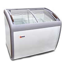 "Omcan FR-CN-1016 39"" Glass (Curved Top) Ice Cream Freezer"