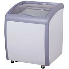 "Coldline XS160 26"" Curved Glass Top Display Ice Cream Freezer"