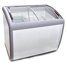 "Coldline XS260 39"" Curved Glass Top Display Ice Cream Freezer"