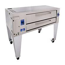 "Bakers Pride Y-600 78"" Gas Super Deck Series Single Deck Pizza Oven - 120,000 BTU"