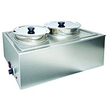 Prepline PFW500NT Full-Size Electric Countertop Food/Soup Warmer with 2 Inserts and 2 Lids - 110V, 1200W