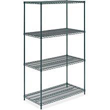 "24"" x 42"" Green Epoxy Wire Shelving Kit, 4-Shelf, NSF Listed"
