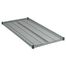 """24"""" x 36"""" Green Epoxy Wire Shelf, NSF Listed"""