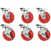 American Range A35118 Compatible Cooking Equipment Casters (Set of 4, 2 Brake)