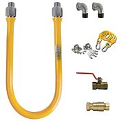 Gas Hose Connector kit with Quick Disconnect - 3/4