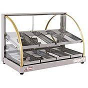 Skyfood FWDE2-25 25'' Food Warmer Display Case - Double Shelf - Economy Line