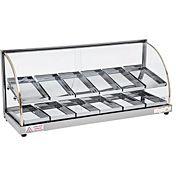 Skyfood FWDE2-37 37'' Food Warmer Display Case - Double Shelf - Economy Line