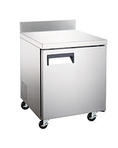"Coldline TUC27F-BS 27"" Undercounter Worktop Freezer with 4"" Backsplash"