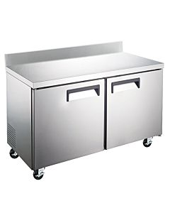 "Coldline TUC48F-BS 48"" Undercounter Worktop Freezer with 4"" Backsplash"