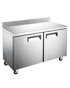 "Coldline TUC60F-BS 60"" Undercounter Worktop Freezer with 4"" Backsplash"