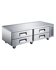 "Coldline CB-72-HC 72"" Four Drawer Refrigerated Chef Base"