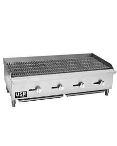 "48"" Gas Countertop Radiant Charbroiler - 120,000 BTU"