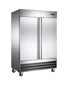 "Coldline CFD-2FF-HC 54"" Double Solid Door Reach-In Freezer - 47 Cu. Ft."