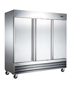 """Coldline CFD-3RR-HC 81"""" Triple Solid Door Reach-In Refrigerator - 72 Cu. Ft."""
