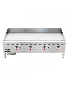 """CGG-48M 48"""" Gas Countertop Griddle with Manual Controls - 120,000 BTU"""