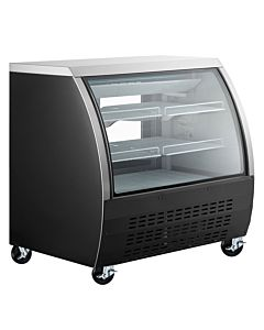 Coldline DC120B 48″ Curved Glass Refrigerated Deli Display Case, Black