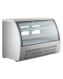 "Coldline DC163SS-HC 64"" Refrigerated Deli Meat Display Case, Curved Glass, Stainless Steel"