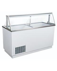 """Coldline DPC66 68"""" Ice Cream Dipping Cabinet - (12) Tub Capacity"""