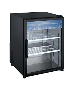 "24"" Countertop Swing Door Merchandising Refrigerator - Black"