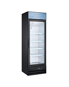 """25.6"""" Single Glass Swing Door Merchandiser Refrigerator - Black"""