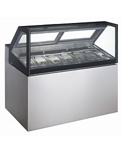 "Coldline GD120 48"" (Slanted Glass) Gelato Ice Cream Dipping Cabinet Freezer"