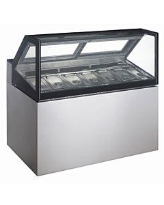 "Coldline GD150 60"" Gelato Ice Cream Dipping Cabinet Freezer, 7 Pans"
