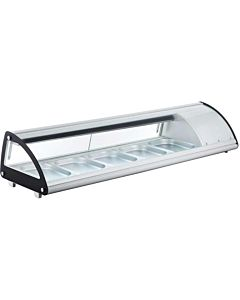 "Marchia MSU60S 60"" Refrigerated Sushi Display Case, Silver"