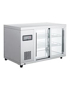 "Marchia MBB36 36"" Glass Sliding Door Back Bar Refrigerator"