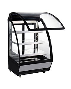"Marchia MBC48 48"" Lift-Up Front Curved Glass Refrigerated Bakery Display Case"