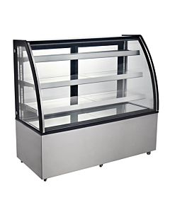 "Marchia MBT72 72"" Curved Glass Refrigerated Bakery Display Case, High Volume"