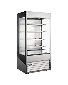 "Marchia MDS40G 40"" Open Air Cooler Grab and Go Refrigerator with Glass Sides"