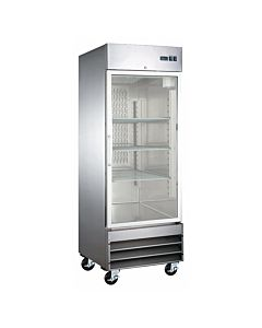 "27"" Single Glass Door Reach-In Freezer - 18  Cu. Ft."