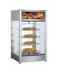 "Marchia MPZ4 18"" Heated 4-Tier Pizza Countertop Display Case"