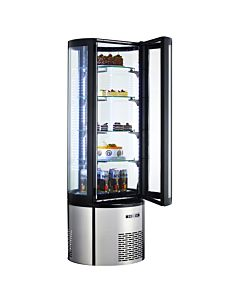 Marchia MVSR400 Refrigerated Curved Glass Cake Display Case