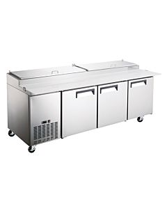 "Coldline PIC3 92"" Refrigerated Pizza Prep Table - 12 Pans"