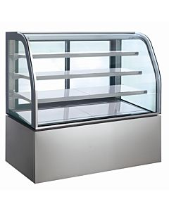 "60"" Refrigerated Display Case, Curved Glass"