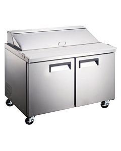 """60"""" Standard Top Bain Marie Sandwich Prep Refrigerator - 16 Pans"""
