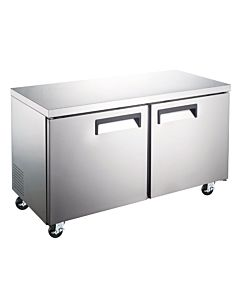 "Coldline TUC60F-HC 60"" Undercounter Work Top Freezer - 15 Cu. Ft."