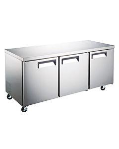 """Coldline TUC72R-HC 72"""" Undercounter Worktop Refrigerator - 15.5 Cu. Ft."""