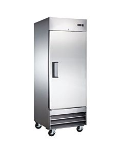 "29"" Single Solid Door Narrow Depth Reach-In Refrigerator"