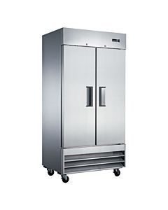 "Coldline U35F 40"" Solid Double Door Commercial Reach-In Freezer, Stainless Steel, 35 Cu. Ft."